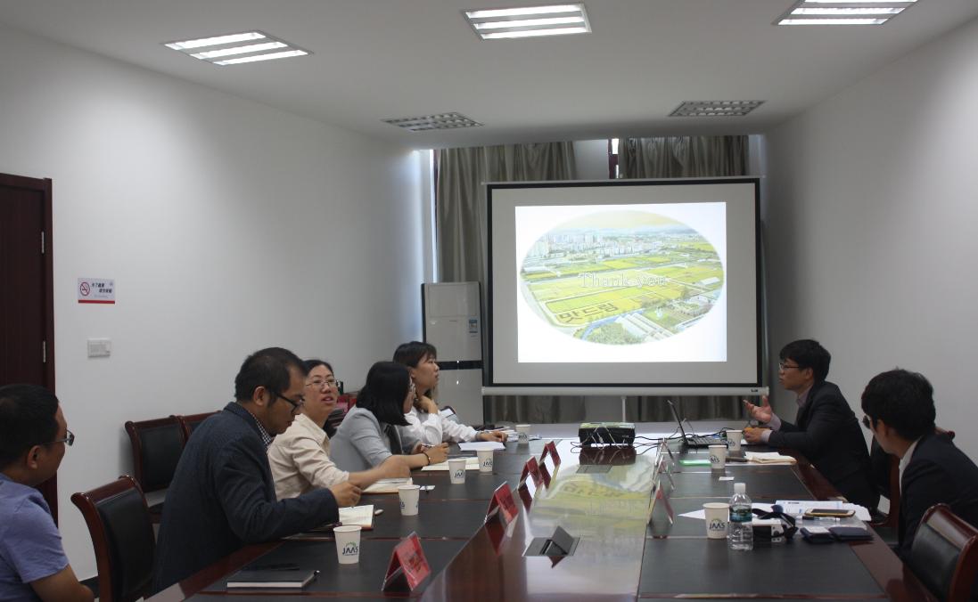 韩国京畿道农业技术院访问团到访信息所交流